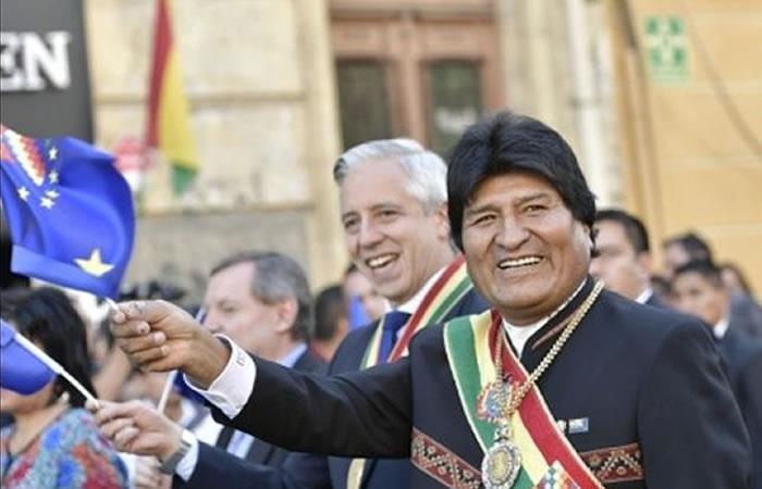 Morales pide por los derechos colectivos. Foto: ABI