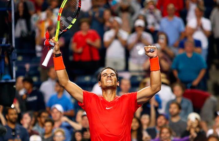 Rafael Nadal se queda con el triunfo de Toronto. Foto: AFP