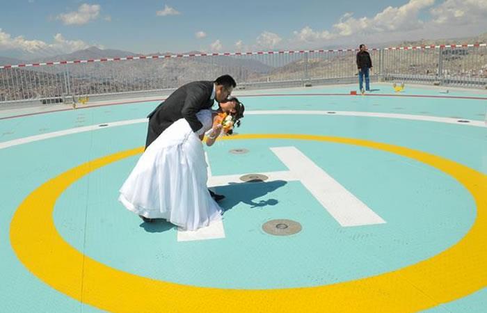 El helipuerto estará abierto para recién casados. Foto: EFE