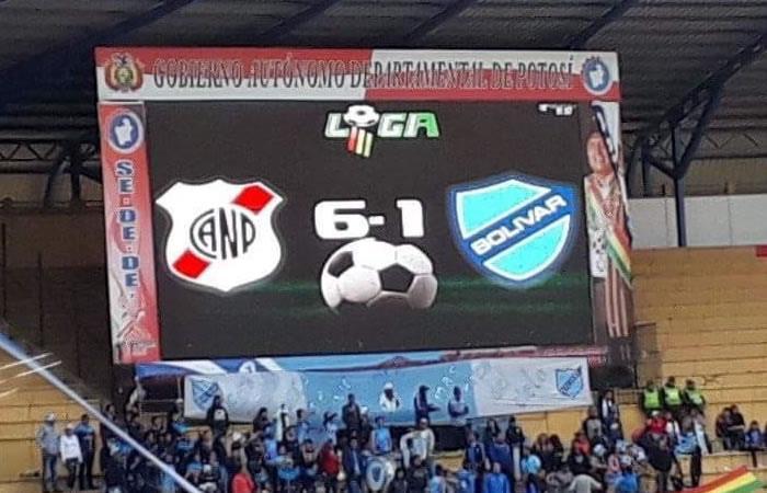Torneo Clausura: Nacional Potosí humilló 6-1 a Bolívar