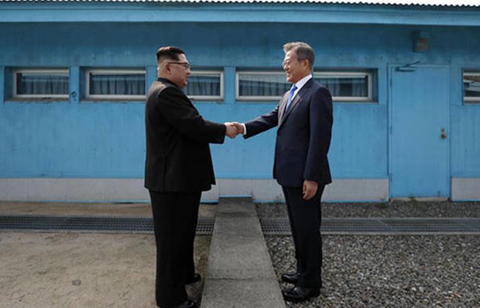 Presidente de Corea del Sur, Moon Jae-in, y el líder norcoreano, Kim Jong-un. Foto: EFE