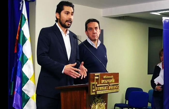 El procurador y el ministro de Economía anunciaron que el Estado se defenderá en el CIADI. Foto: ABI