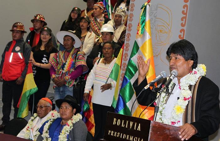 Evo Morales celebra récord. Foto: AFP