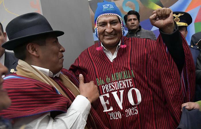 Evo Morales el presidente con más años de gobierno en Bolivia. Foto: AFP