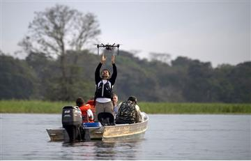 Drones al servicio de la preservación de los delfines del Amazonas