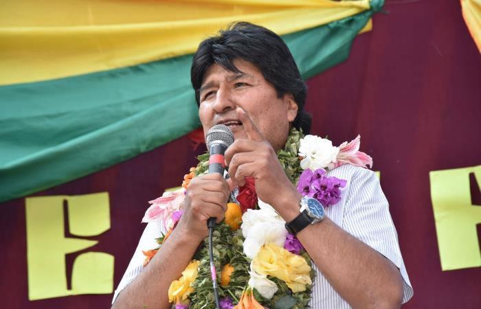 Evo Morales conmueve al pueblo con su discurso. Foto: AFP