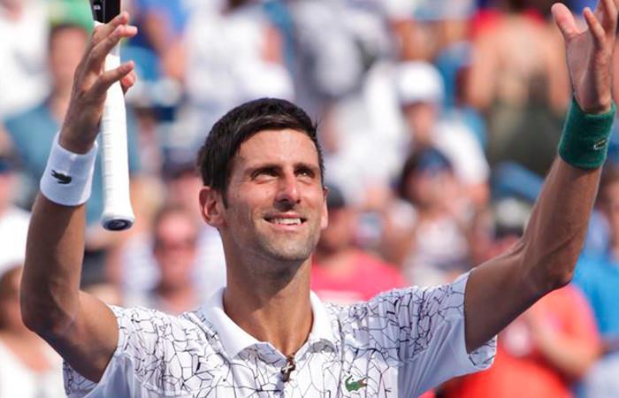 Djokovic el primer finalista de Cincinnati