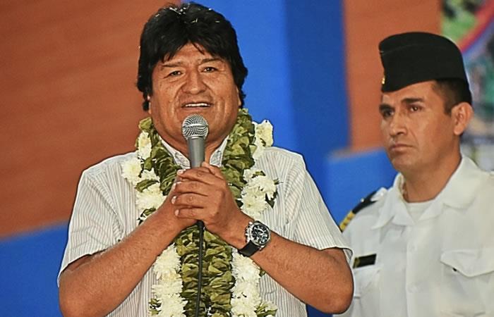 Esta fue la advertencia de Evo Morales. Foto: ABI