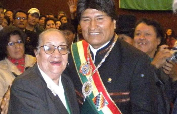 Morales lamentó el fallecimiento de la actriz. Foto: Twitter Evo Morales