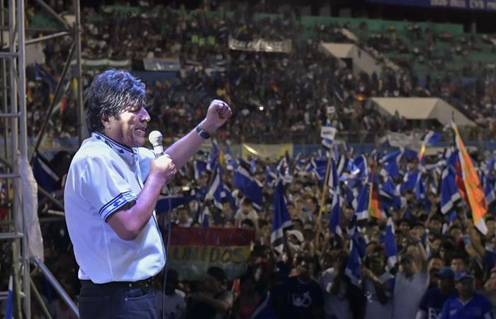 Morales celebró así 12 años en el poder. Foto: ABI