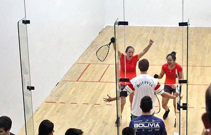 Sabja y Centellas lograron medalla de oro para Bolivia. Foto: ABI