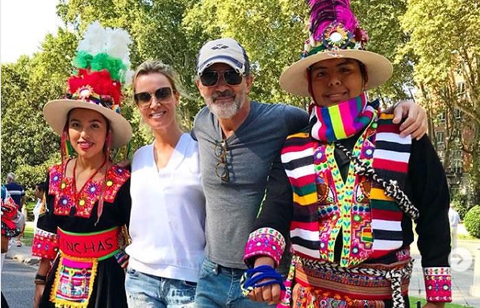 Evo Morales invita a Antonio Banderas a visitar Bolivia