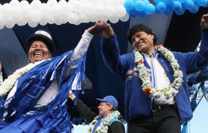 Evo Morales bailando en un acto celebrado en 2014. Foto: ABI