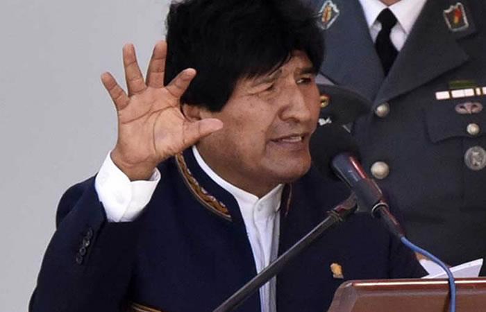 Evo Morales, presidente de Bolivia. Foto: AFP
