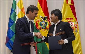 Evo reafirma garantías plenas a inversiones de España en Bolivia