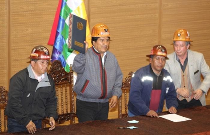 Evo Morales promulga ley. Foto: ABI