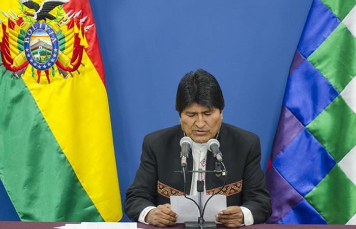 Evo Morales presenta demanda por el Silala. Foto: ABI