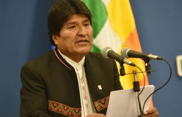 Evo Morales contrademandó por las aguas del Silala. Foto: EFE