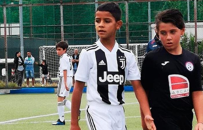Hijo de Cristiano Ronaldo anota cuatro goles con las inferiores de Juventus
