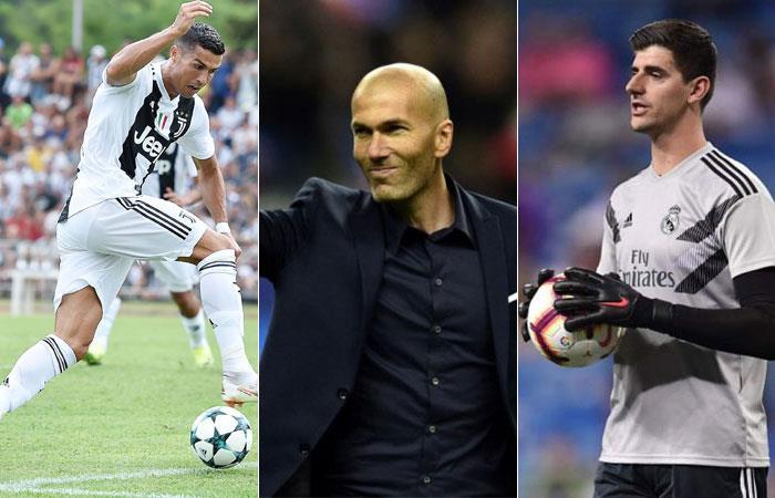 Cristiano Ronaldo, Zidane y Courtouis finalistas para ser los mejores del año. Foto: AFP