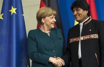 Evo invita a Merkel a Bolivia para analizar proyecto del tren bioceánico