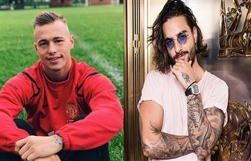 Futbolista argentino se disculpa con Maluma y afirma que no es gay