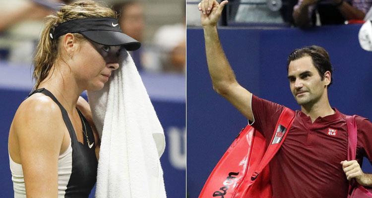 US Open: María Sharapova y Roger Federer le dicen adiós al torneo