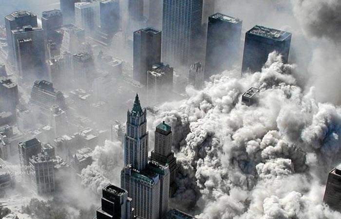 Imagen tomada por el Departamento de Policía de Nueva York tras el derrumbe de las Torres Gemelas. Foto: EFE