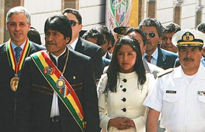 Evo Morales y Evaliz. Foto: AFP