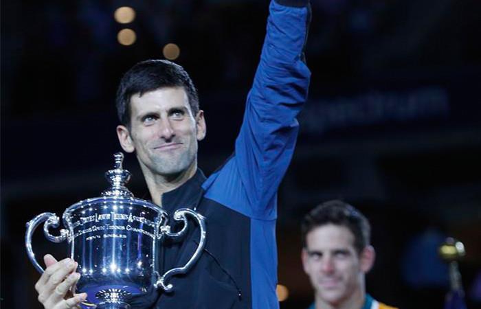 Novak Djokovic ganó este domingo su tercer Abierto de Estados Unidos. Foto: EFE