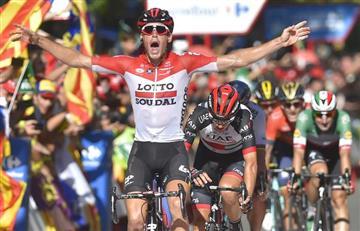 Vuelta a España: Jelle Wallays gana la etapa y Yates sigue líder