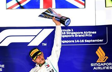 Fórmula Uno: Lewis Hamilton gana en Singapur y va por el título mundial