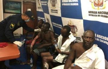 Marina colombiana rescata a 28 náufragos jamaiquinos en el Mar Caribe