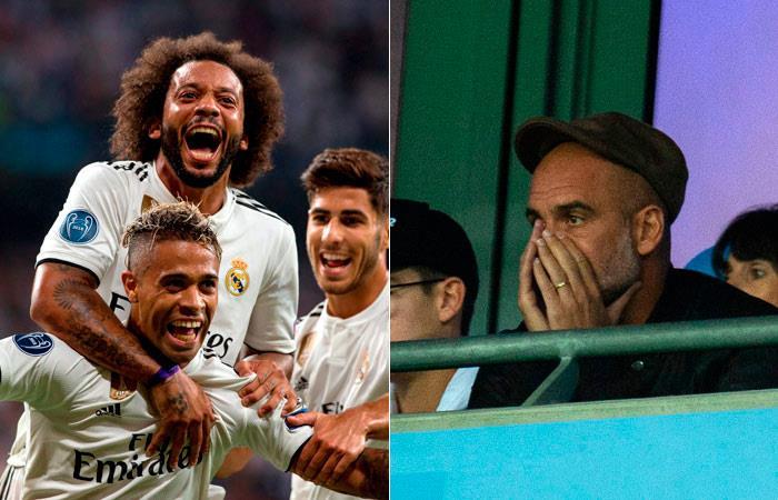 Real Madrid vence a Roma y Manchester City cae como local ante Lyon. Foto: EFE