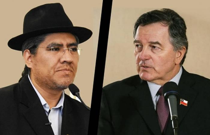 Diego Pary y Roberto Ampuero. Foto: ABI