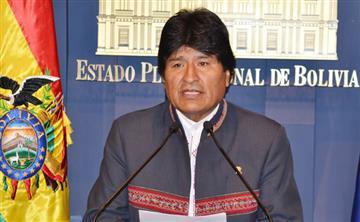 Evo Morales anticipa que desde 2019 Bolivia crecerá 5% como mínimo