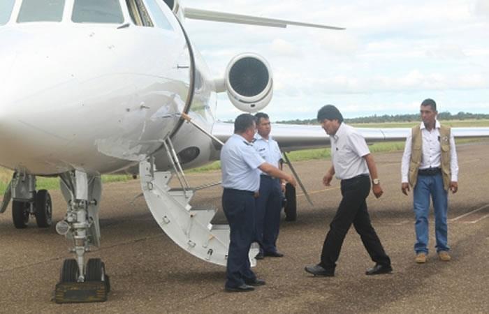 Evo Morales viaja a Nueva York. Foto: ABI