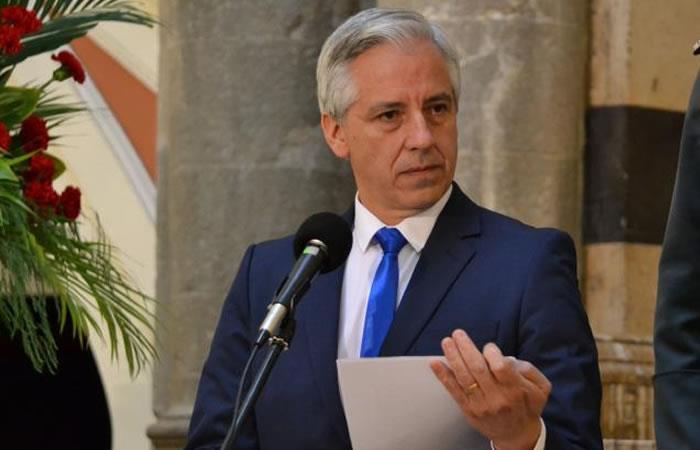 Álvaro García Linera rechaza el actuar de Chile. Foto: ABI