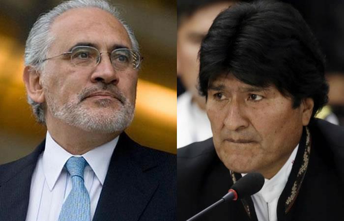 Carlos Mesa y Evo Morales. Foto: AFP