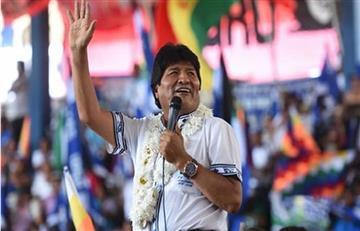 Evo Morales llega a La Haya