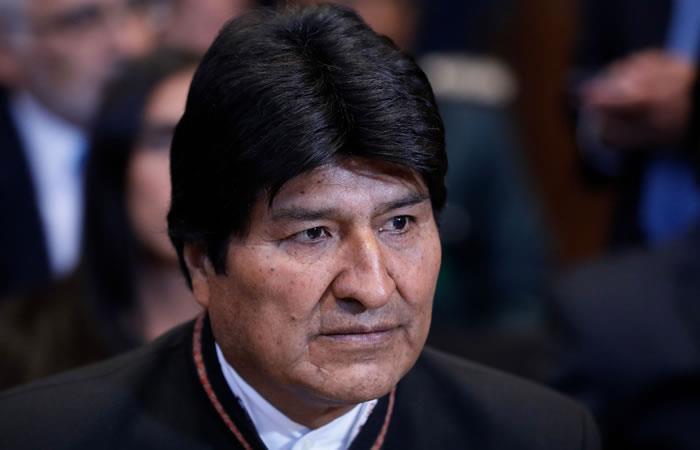 Evo Morales tras conocer el fallo de La Haya. Foto: AFP