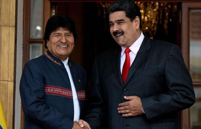 Evo Morales y Nicolás Maduro. Foto: AFP