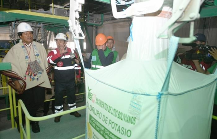 Morales inaugura planta industrial de cloruro de potasio