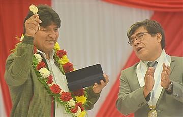 ¿Por qué Evo Morales recibió la llave de la ciudad de Ilo?