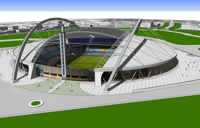 Así quieren renovar el estadio Centenario en Uruguay. Foto: EFE
