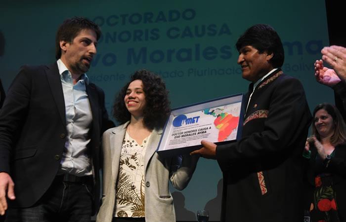 El presidente boliviano recibió este reconocimiento. Foto: ABI