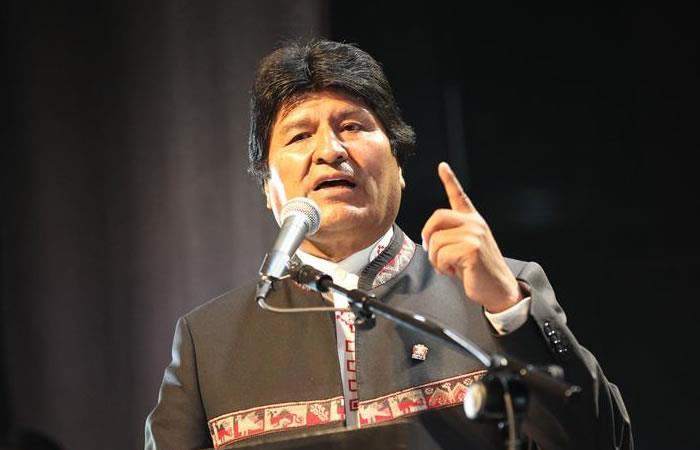 Evo Morales intervino en Buenos Aires. Foto: EFE