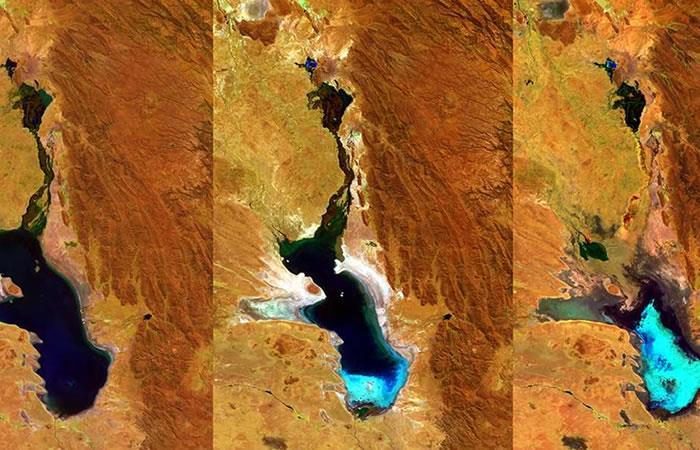 Lago boliviano de agua salada Poopó. Foto: EFE