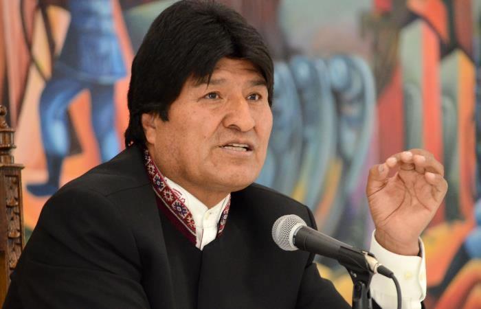 Evo Morales presidente de Bolivia. Foto: AFP