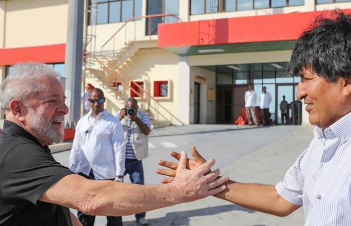 Morales saluda a Lula en su cumpleaños. Foto: ABI